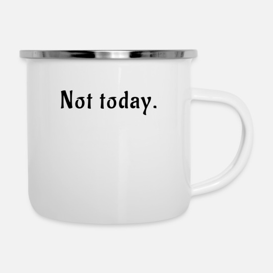 Birthday Mugs & Drinkware - Lazy Moving Gift Idea Sayings Funny Today - Enamel Mug white