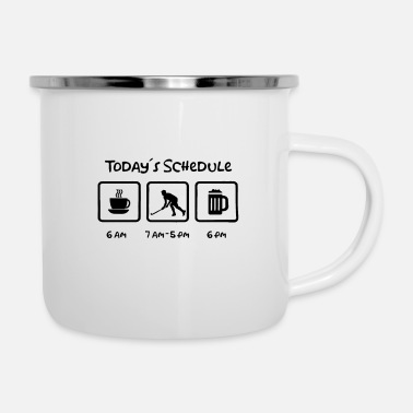 Floor Hockey Todays Schedule Hockey Ice Hockey Floor ball - Enamel Mug