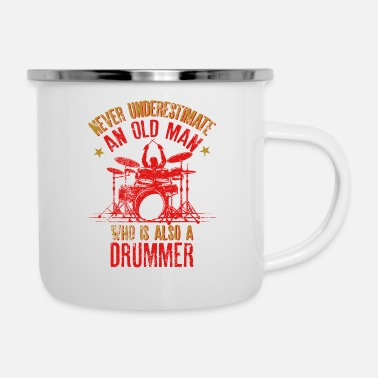 Never Underestimate An Old Man Who Is Also A - Enamel Mug