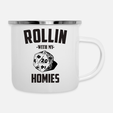 Dm Rollin With My Homies DM RPG - Enamel Mug