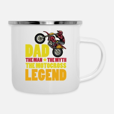 Dad The Man The Legend Dad The Man The Myth The Motocross Legend Funny - Emaille mok