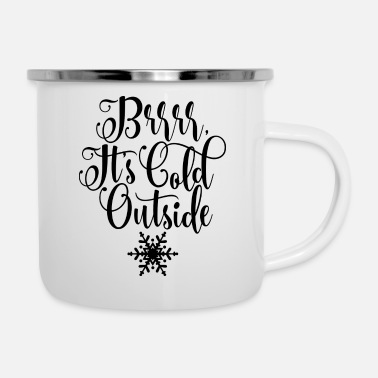 Froid Froid dehors hiver froid - Mug émaillé