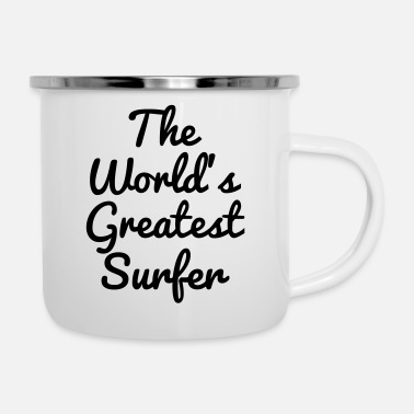 Surf Music Surf / Surfing / Surfer / Surfen / Beach - Enamel Mug