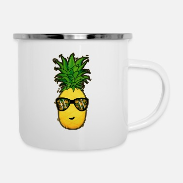 Coole Coole Ananas - Emaille-Tasse