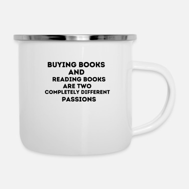 Read Buying books and reading books - reading, read - Enamel Mug