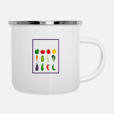 Group Veggie Group - Vegan Group - Enamel Mug