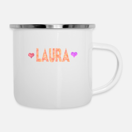 Laura Mugs & Drinkware - Laura - Enamel Mug white