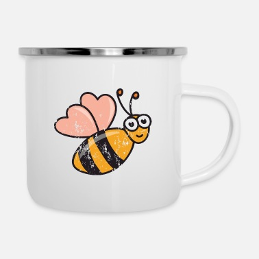 Funny Retro vintage grunge style honeybees bee honey - Camper Mug