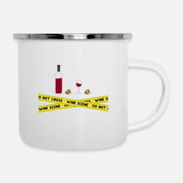 Mulled Wine Wine scene. Wine red wine white wine wine drinker - Enamel Mug