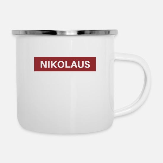 Birthday Mugs & Drinkware - Nicholas - Enamel Mug white