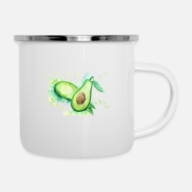 Smakelijke Avocado Splash waterverf - Emaille mok