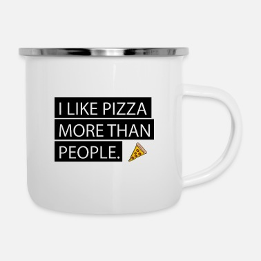 Pizza is Love. Pizza is Life. - Camper Mug