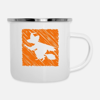 Hexe hexe - Emaille-Tasse