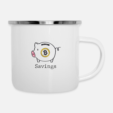 Save Bitcoin savings - Bitcoin savings - Enamel Mug
