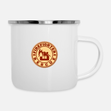 Rescue Firefighter rescue - Firefighter rescue - Enamel Mug
