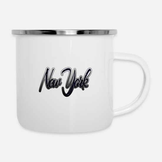 New World Order Mugs & Drinkware - New York - Enamel Mug white