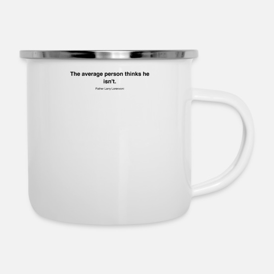 Nerd Tassen & Becher - HQ The average pers black ada986143fe1bfde8a743407 - Emaille-Tasse Weiß