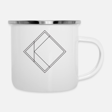 Shapes icons square - Enamel Mug