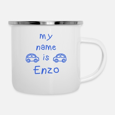 Prénom ENZO MY NAME IS - Mug émaillé