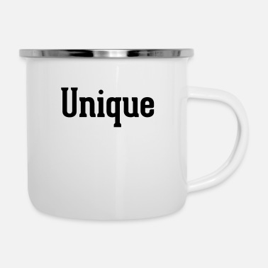 Unique - Emaille-Tasse