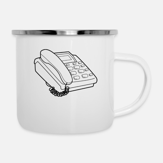 Phone Mugs & Drinkware - phone - Enamel Mug white