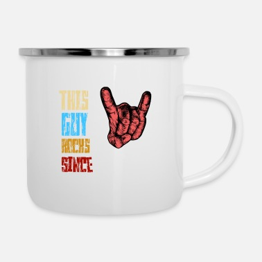 Rock N Roll Rock dal 1988 / uomo / regalo / musica rock - Tazza smaltata