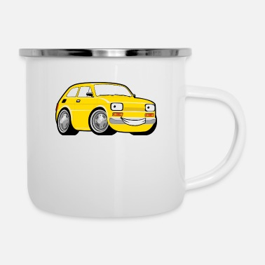 Toddler Racing car toddler yellow - Enamel Mug