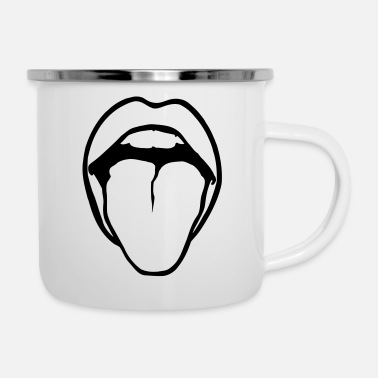 Langue Bouche smile tongue bodypart - Mug émaillé