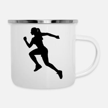 Athletics athlete - Enamel Mug