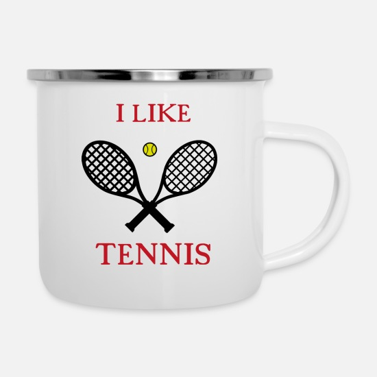 Studio Mugs & Drinkware - Tennis Sport Sporty Gift Movement Fun Team - Enamel Mug white