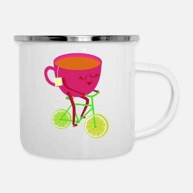 bike - Enamel Mug