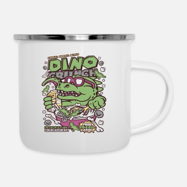 Cartoon Dinosaur Cornflakes Cartoon Cartoon - Enamel Mug