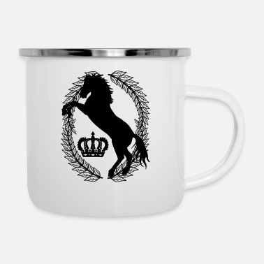Couronne Cheval Chevaux Fantaisie Laurel Wreath Winner Ross - Mug émaillé
