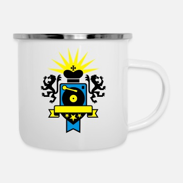 Nu Rave viny lover - your text - Emaille-Tasse