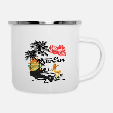 West Coast West Coast Cars - Emaille-Tasse