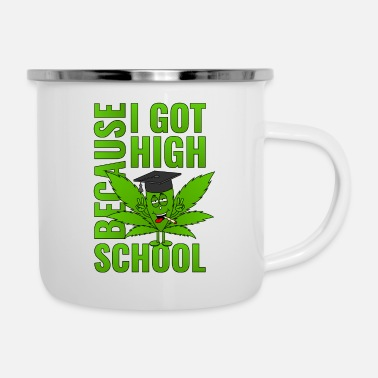 High School High School High School di Cannabis Leaf High School 2019 - Tazza smaltata