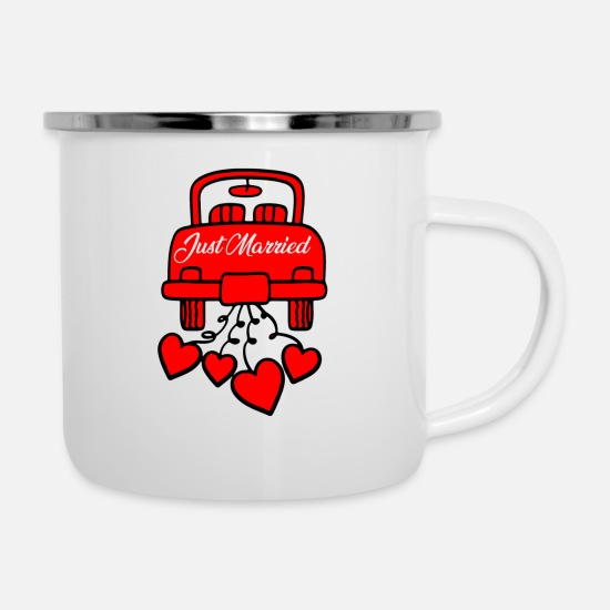 Party Mugs & Drinkware - marriage - Enamel Mug white