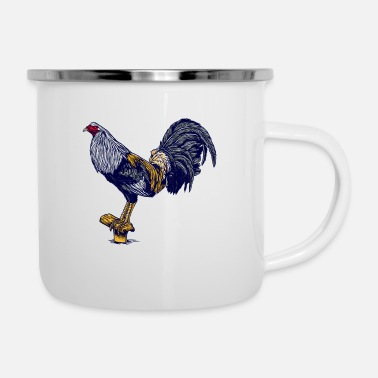 Back Yard cock, cock, gockl, farm, animals, yard, gift - Enamel Mug