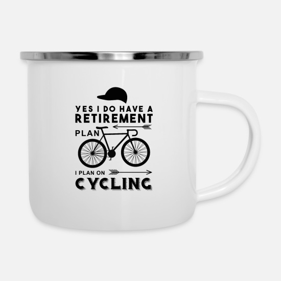 Cycling Mugs & Drinkware - I play on cycling - Enamel Mug white