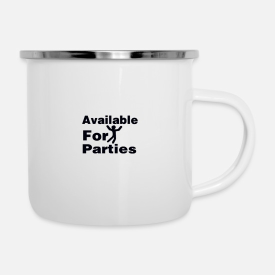 Donald Trump Mugs & Drinkware - available for parties - Enamel Mug white