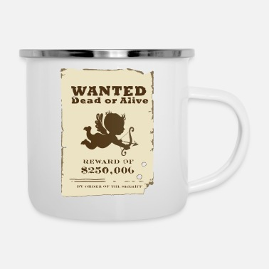 Cupid Cupid Wanted - Emaille-Tasse