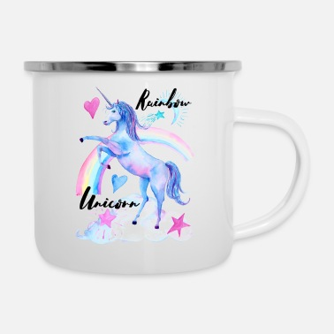Rainbow Unicorn Rainbow Unicorn / Rainbow Unicorn - Enamel Mug
