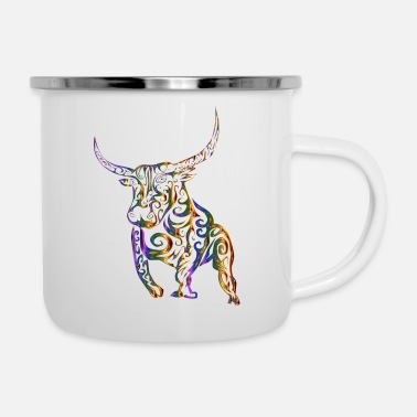 Cop The colorful cop - Enamel Mug