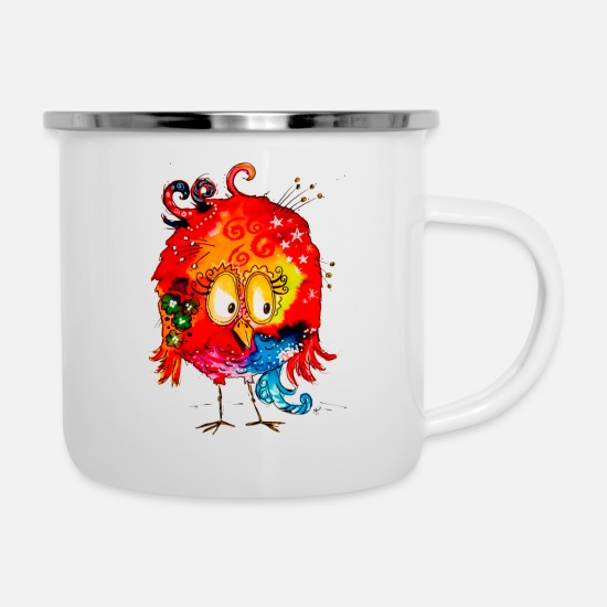Red Mugs & Drinkware - Susi Suess - Enamel Mug white