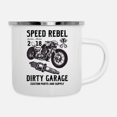 Rebel Flag SPEED REBELL - Enamel Mug