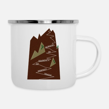 Trail Trails • Trail • Single Trail II - Enamel Mug