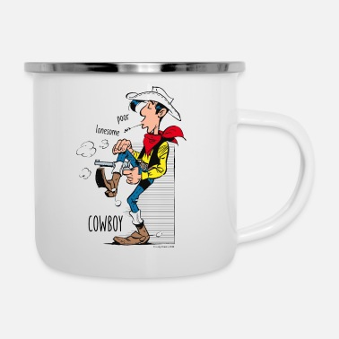 Officialbrands Lucky Luke Poor Lonesome Cowboy - Emaille-Tasse