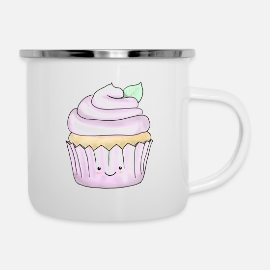 Cookie Mugs & Drinkware - Cupcake - Enamel Mug white