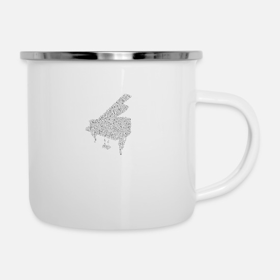 Piano Mugs & Drinkware - Piano I Piano - Enamel Mug white