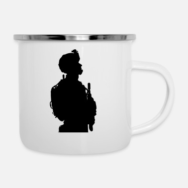 Us US soldier - Emaille-Tasse